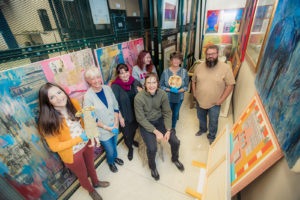 photo of students who will be curating museum exhibit