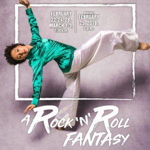 promo photo of a dancer for A Rock 'n' Roll Fantasy event