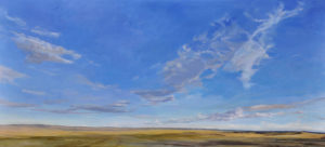 painting of the Wyoming sky in the summer