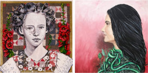 samples of portraits by Gabrielle Reeves and Maria R. Wimmer